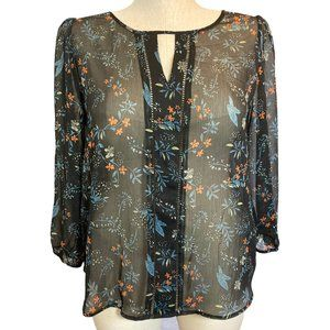 Collective Concepts Large Sheer 3/4 Sleeve Top